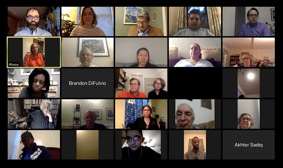 Zoom conference with Congresswoman Robin Kelly - Screenshot of participants